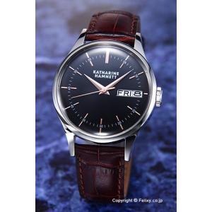 キャサリンハムネット 腕時計 メンズ KH20G4-34 ENGLISH SLICK ブラック|trend-watch