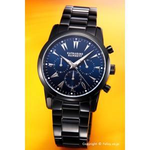キャサリンハムネット 腕時計 メンズ Chronograph V(クロノグラフ 5)ブラック/ネイビー KH23A5-B69 trend-watch