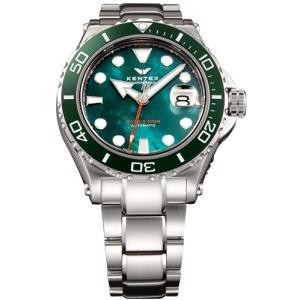 ケンテックス 腕時計 メンズ KENTEX S706M-17 マリーンマン シーホース2 グリーンMOP trend-watch