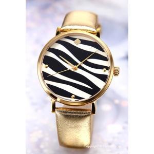ケイトスペード KATE SPADE 腕時計 Gold Zebra Metro レディース 1YRU0022|trend-watch