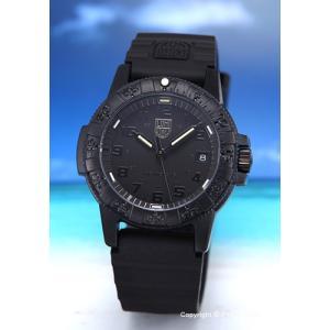 ルミノックス LUMINOX 腕時計 ユニセックス LEATHERBACK SEA TURTLE 0300SERIES ブラックアウト 0301.BO|trend-watch