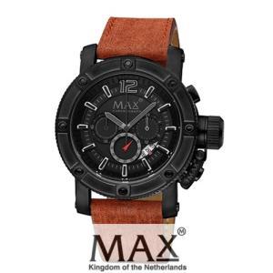 マックス 腕時計 MAX XL WATCHES The Chronograph (ザ クロノグラフ) オールブラック×ブラウン 5-MAX672|trend-watch