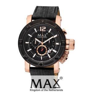 マックス 腕時計 MAX XL WATCHES The Chronograph (ザ クロノグラフ) ブラック×ローズゴールド 5-MAX674|trend-watch