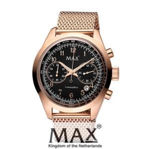 マックス 腕時計 MAX XL WATCHES The Chrono MAX (ザ クロノ マックス) ブラック×ローズゴールド 5-MAX666|trend-watch