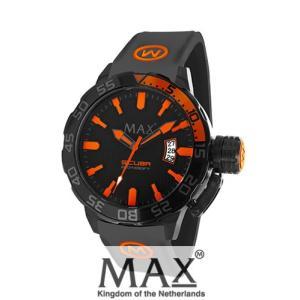 マックス 腕時計 MAX XL WATCHES The Scuba (ザ スクーバ) オールブラック×オレンジ 5-MAX694|trend-watch