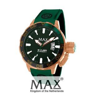 マックス 腕時計 MAX XL WATCHES The Scuba (ザ スクーバ) グリーン×ローズゴールド 5-MAX697|trend-watch