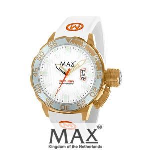 マックス 腕時計 MAX XL WATCHES The Scuba (ザ スクーバ) ホワイト×ゴールド 5-MAX698|trend-watch