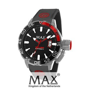 マックス 腕時計 MAX XL WATCHES The Scuba (ザ スクーバ) ブラック(レッドポイント) 5-MAX699|trend-watch