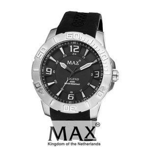 マックス 腕時計 MAX XL WATCHES The Legend 44 (ザ レジェンド44) ブラック×シルバー 5-MAX675|trend-watch
