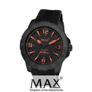 マックス 腕時計 MAX XL WATCHES The Legend 44 (ザ レジェンド44) オールブラック(オレンジポイント) 5-MAX686|trend-watch