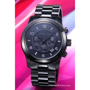 マイケルコース MICHAEL KORS 腕時計 メンズ ランウェイ クロノグラフ オールブラック MK8157|trend-watch