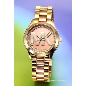 マイケルコース MICHAEL KORS 腕時計 レディース ミニ ランウェイ スリム ツートンゴールド MK3650|trend-watch