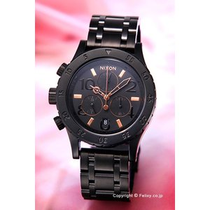 ニクソン 腕時計 NIXON 38-20 CHRONO All Black / Rose Gold A404957|trend-watch