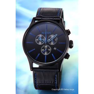 ニクソン 腕時計 メンズ NIXON Sentry Chrono Leather Navy Gator A4052153|trend-watch
