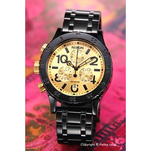 ニクソン NIXON 腕時計 レディース 38-20 CHRONO Black / Gold  A404010|trend-watch