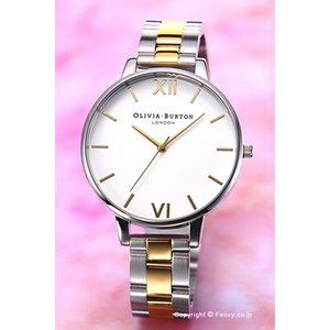 オリビアバートン OLIVIA BURTON 腕時計 BIG DIAL WHITE DIAL SILVER & GOLD BRACELET OB16BL45|trend-watch