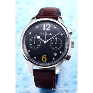 ポールスミス PAUL SMITH 腕時計 メンズ BX2-019-52 シティ クラシック ツー カウンター クロノグラフ ブラック|trend-watch