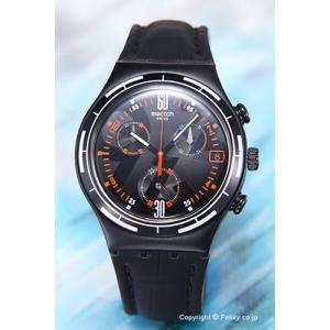 スウォッチ 腕時計 YCB4023 Irony Chrono Eruption (アイロニー クロノ エラプション) ブラック|trend-watch