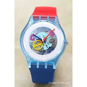 SWATCH スウォッチ 腕時計 NEW GENT LACQUERED COLOR MY LACQUERED ハーフスケルトン SUOS101|trend-watch