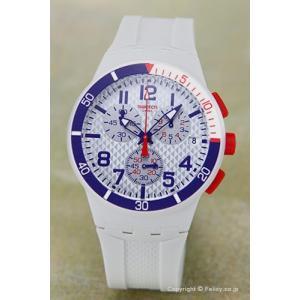 SWATCH スウォッチ 腕時計 ORIGINALS CHRONO SPEED UP ホワイト(ブルー×レッド) SUSM401|trend-watch