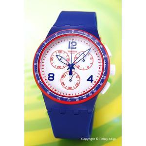 SWATCH スウォッチ 腕時計 SUSZ100 FAST SERVER (ファースト・サーバー) ブルー|trend-watch