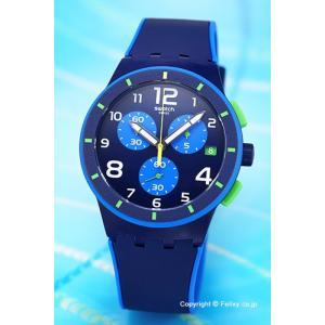 スウォッチ 腕時計 メンズ SWATCH SUSN409 ORIGINALS CHRONO BLEU SUR BLEU(オリジナルズ クロノ ブルーシュアブルー)|trend-watch
