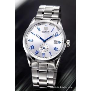 スイスミリタリー 腕時計 メンズ ML-401 (ML401) SWISSMILITARY HANOWA ローマン シルバー|trend-watch