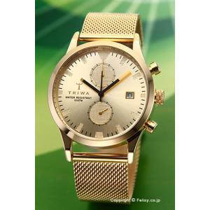 トリワ 腕時計 TRIWA ソート オブ ブラック ゴールド クロノ ゴールド メッシュ  LCST109-ME021313|trend-watch