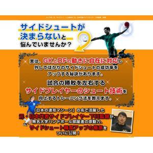 ハンドボール・サイドシュート上達革命DVD 元・日本代表サイドプレイヤー下川監督、指導