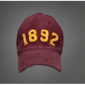 【即納】アバクロ メンズ キャップ Abercrombie&Fitch Classic Baseball Caps BURGUNDY(バーガンディー) 本物 【条件付き送料無料】|trendcruising