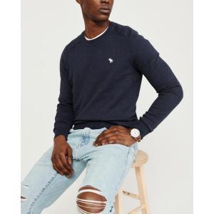 アバクロ   Vネックセーター メンズ ニット ブラック 大きいサイズ xl xxl xxxl|trendcruising