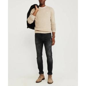 アバクロ   Vネックセーター メンズ ニット グレー 大きいサイズ xl xxl xxxl|trendcruising