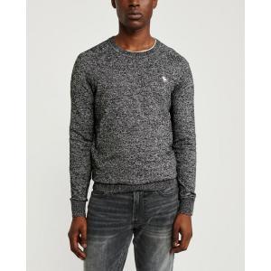 アバクロ   クルーネックセーター メンズ ニット ブラック 大きいサイズ xl xxl xxxl|trendcruising