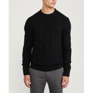 アバクロ  セーター メンズ ニット ダークグレー 大きいサイズ|trendcruising