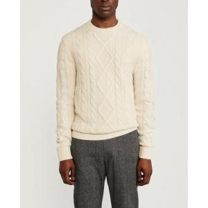 アバクロ  セーター メンズ ニット ライトグレー 大きいサイズ|trendcruising