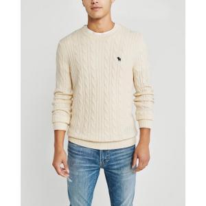 アバクロ  セーター メンズ ニット バーガンディー 大きいサイズ|trendcruising