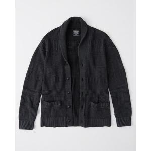 アバクロ  カーディガン セーター メンズ ニット チャコールグレー 大きいサイズ|trendcruising