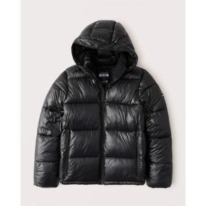 アバクロ ダウンジャケット メンズ アウター コート ブラック&ブルー|trendcruising