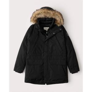 アバクロ ダウンベスト ジャケット メンズ アウター コート ブラック|trendcruising