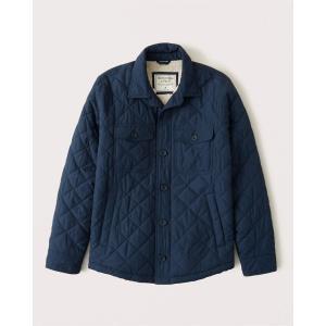 アバクロ ダウンジャケット メンズ アウター コート ブルー|trendcruising