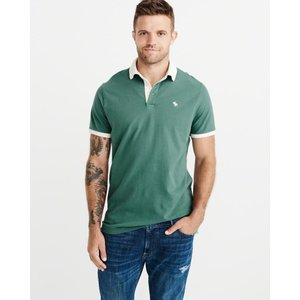 アバクロ ポロシャツ メンズ 半袖 グリーン 大きいサイズ|trendcruising