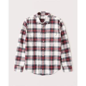 アバクロ オックスフォードシャツ メンズ  長袖 シャツ グリーン|trendcruising
