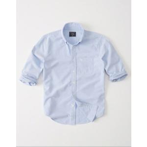 アバクロ オックスフォードシャツ メンズ  長袖 シャツ ブルー 大きいサイズ xl xxl xxxl アウトドア おしゃれ  アメリカンイーグル|trendcruising
