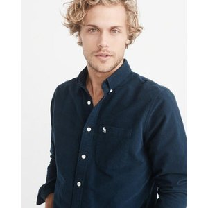 アバクロ オックスフォードシャツ メンズ  長袖 シャツ ネイビー 大きいサイズ xl xxl xxxl アウトドア おしゃれ ホリスター|trendcruising
