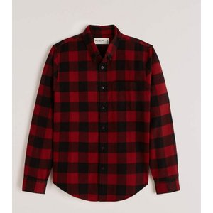 アバクロ オックスフォードシャツ メンズ  長袖 シャツ パープル|trendcruising