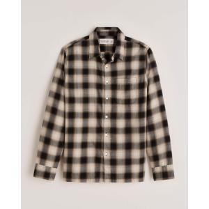 アバクロ チェックシャツ メンズ  長袖 イエロー|trendcruising