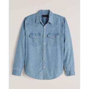 アバクロ チェックシャツ メンズ  長袖 レッド|trendcruising