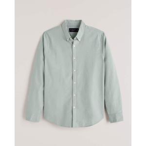 アバクロ ミリタリーシャツジャケット メンズ  長袖 オリーブ|trendcruising