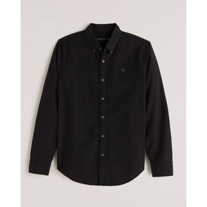 アバクロ オックスフォードシャツ メンズ  長袖 ホワイト|trendcruising