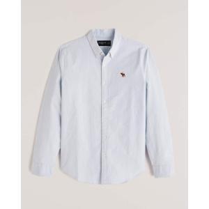 アバクロ チェックシャツ メンズ  長袖 グレー|trendcruising